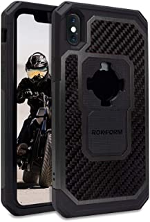Rokform Fuzion Pro Series [iPhone X/XS] Protective Aluminum & Carbon Fiber Magnetic case with Twist Lock Insert Included (Black)