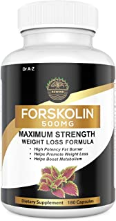 Nature's Pure Standardized Forskolin Extract 100% Pure Forskolin, Non-GMO & Gluten Free - Promotes Weight Loss, Advanced W...