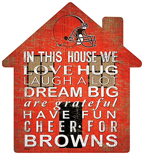 Fan Creations NFL Cleveland Browns Unisex Cleveland Browns House Sign, Team Color, 12 inch