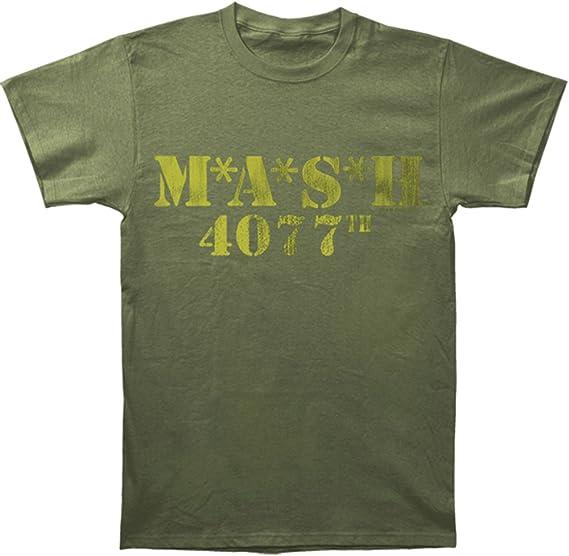 MASH Logo 4077th verde militar camiseta Tee