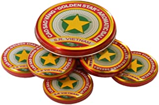Golden Star Balm Cao Sao Vang - Vietnamese All Natural Aromatic Balsam Medicinal Ointment