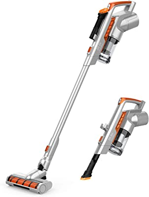 GOOVI Cordless Vacuum Cleaner, New Upgraded Version of Brush Head, 60 Minutes Long Runtime, Vacuum Cleaner with a Charging Stand, Convenient Stick and Handheld Vac
