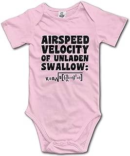 Ghhpws Airspeed Velocity of Unladen Swallow Baby's Onesie Unisex Short Sleeve Comfortable Bodysuit Outfits Pink