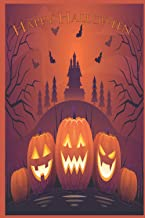Happy Halloween Notebook: Notebook for adult fantasy ghost and scary pumkins