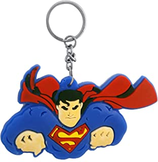 Tugend-Ära Latest Collecton Superman DC Superhero Collectible Rubber Keychain for Car Bike Men Women Keyring