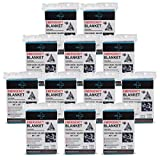 Emergency Blanket (12-Pack) ,Emergency Foil Blanket– Perfect for Outdoors, Hiking, Survival, Marathons or First Aid