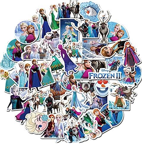 BUCUO Frozen Anna Aisha Cute Graffiti Stickers Skateboard Maleta Laptop Pegatinas Impermeables 50 Uds