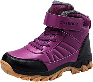 Winter Women Fashion Leather Keep Warm Ankle Snow Boots Casual Comfy Outdoor Mountaineering Sport Shoes