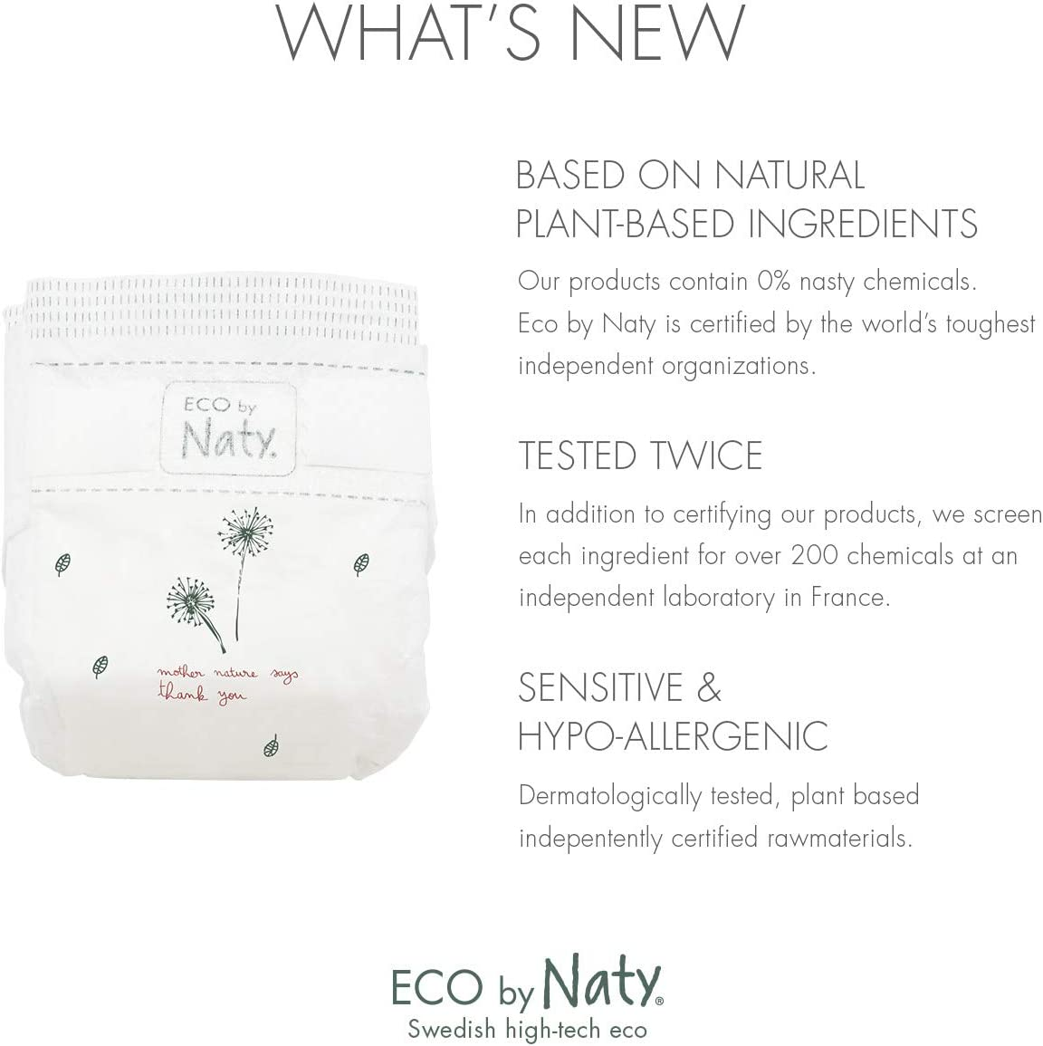Size 2 Eco by Naty Disposable Diaper Trial Box Includes 10x Size 2 Diapers and Eco News Magazine 2.09 pounds 0.95 kilograms