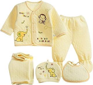 comprar comparacion Value Pack Recién Nacido Bebé, LANSKIRT 6PCS Bebé Niña Niño Dibujos Animados Manga Larga Tops + Sombrero + Dos Pantalones ...