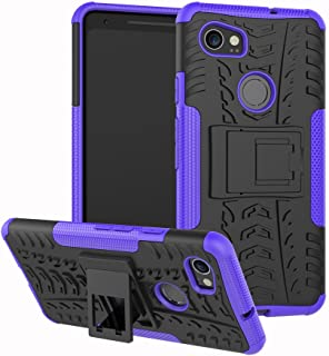 Google Pixel 2 XL Case,Pixel 2 XL Case with Kickstand Hybrid Rugged Shockproof Slim Dual Layer Armor Hard PC Back TPU Bumper Protective Phone Case Cover for Google Pixel 2 XL (6.0 inch) 2017,Purple