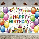 Decoración de Fiesta de Cumpleaños,Banner de fondo cumpleaños,Pancarta Feliz Cumpleaños,para Fotografia Party Photo Studio Props Photo Booth (Color)