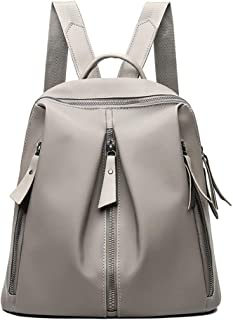 Female The College Style Student School Bag High Capacity Backpack Travel Toiletry Bag Garment Bags for Travel ; (Color : Khaki, Size : Free Size)