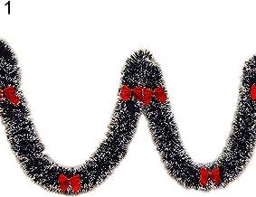 Sanwooden Lovely Christmas Garland Christmas Green Plastic Bowknots Balls Garland Tree Ornaments Xmas Party Decor Fashion ...