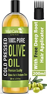 WishCare® 100% Pure Premium Cold Pressed Olive Oil for Hair & Skin - 200ml