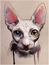 Bhhcr Paint by Numbers Digital Painting DIY Painting Sphynx Cat Home Decor Animal Gift(40X50Cm Frameless)