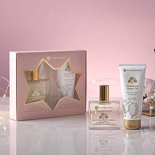Flor de Mayo Set de Tratamiento Beauty Treatment Set Aceite Seco Prodigioso Exceptional Oil y Crema de manos y cuerpo 100ml