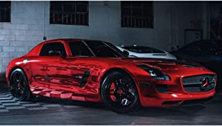Avery SF100 Conform Chrome Red | 474-S | Vinyl CAR WRAP Film (53in x 1ft (4.4 Sq/ft)) w/Free-Style-It Pro-Wrapping Glove