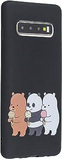 Miagon for Samsung Galaxy S10 Case,Thin Soft Silicone Ultra Slim Fit Matte Finish Flexible Protective Shell Anti-scratch Bumper TPU Cover,Funny Bear