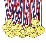 Pllieay 100 Piezas Oro Medallas Niños Medallas de Plastico Winner Medallas para Fiesta, Premio, Niños Fiesta Deportiva, Competencia
