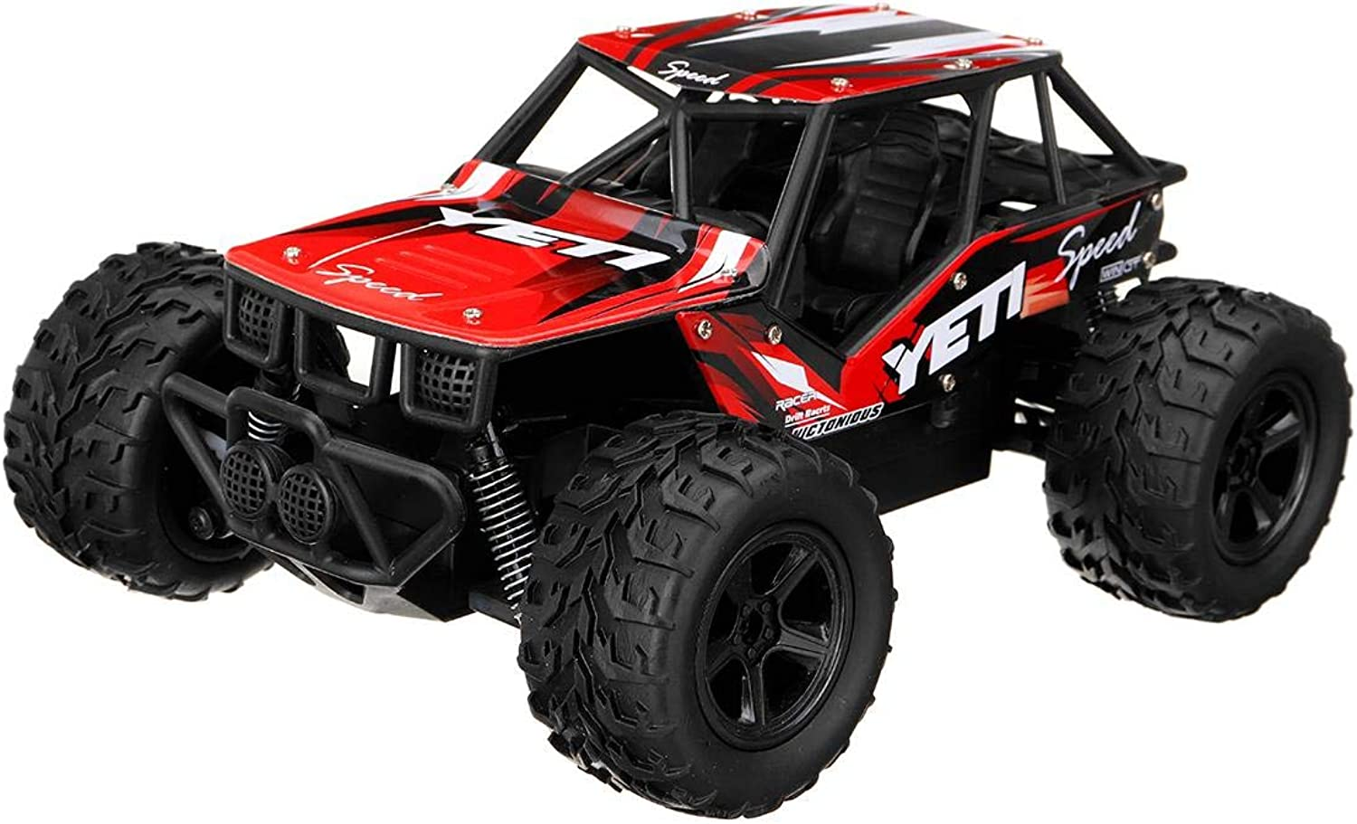 Generic Remote Control RC Cars Toys 48KM H 1 20 2.4G Aluminum OffRoad VehicleTruck Climbing Car Toys for Boys Kids Gift Red