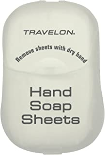 Travelon Hand Soap Toiletry Sheets, 50-Count