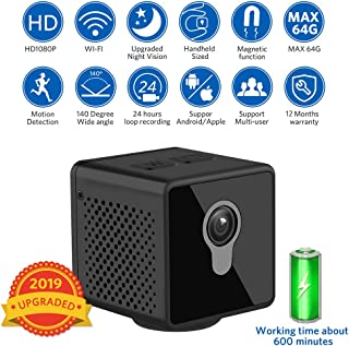 Mini Spy Hidden Camera,XinFun1080P Portable Small HD with Night Vision and Motion Detective Wide Angle 140 ° Support 64G Expansion,Perfect Indoor Covert Security Camera for Home and Office