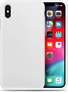 Compatible with Apple iPhone X Liquid Silicone Phone Case Gel Rubber Full Body Protection Shockproof Cover Case Drop Protection for Apple iPhone X White