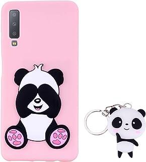 1579b6cd71b HopMore Panda Funda para Samsung Galaxy A7 2018 Silicona con Diseño 3D  Divertidas Carcasa TPU Ultrafina