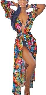 UOKNICE Ladies Summer Lace Crochet Bikini Cover Up Swimwear Bathing Suit Beach Dress Long Smock
