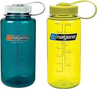 Nalgene 16 Ounce (16oz) Wide Mouth (WM) Sport Hydration Water Bottles - Set of 2