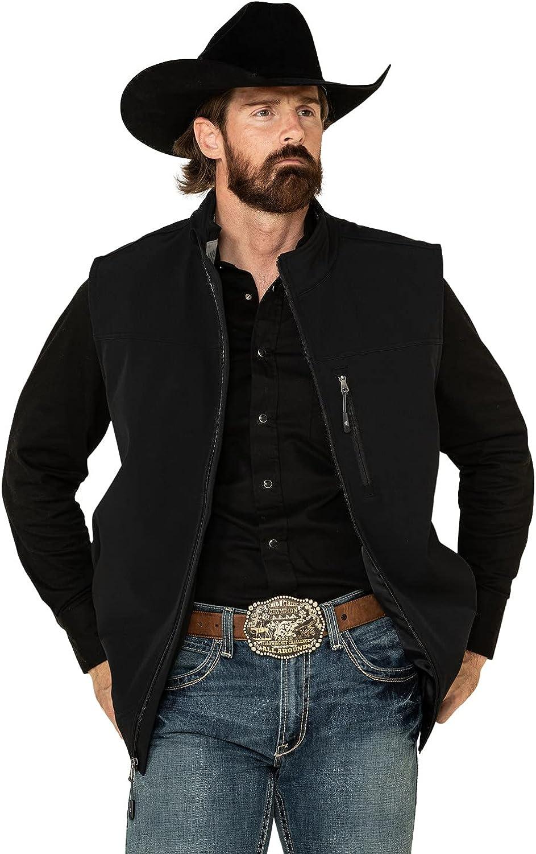 Cody James Men's Core Wrightwood Zip Front Vest Big Black 3X