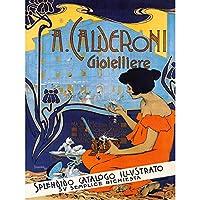 Adolf Hohenstein A Calderoni Gioielliere Extra Large XL Wall Art Poster Print 壁 ポスター印刷