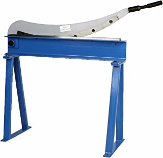 "Erie Tools Manual Guillotine Shear 32"" x 16 Gauge Sheet Metal Plate Cutting Cutter w/ Stand"