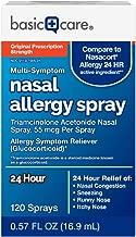 Basic Care Nasal Allergy Spray, Triamcinolone Acetonide Nasal Spray, 55 mcg Per Spray, 120 Sprays, 0.57 FL OZ