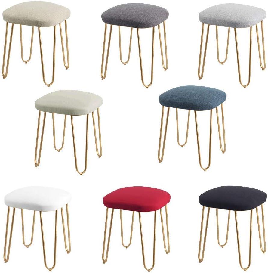 WZF Tabourets habillés Tabouret Chaussures de Changement Petite Chaise Repose-Pied Rembourré Mode Fer Art Meubles Créatifs pour Salon Chambre #8