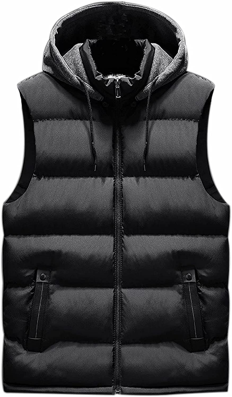 VtuAOL Women's Quilted Padded Puffer Vest with Hood Winter Lightweight Coats