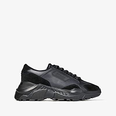 Versace Jeans Couture Mixed Material Chunky Sole Sneaker (Black) Men