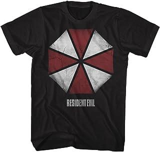 تي شيرت للكبار مطبوع عليه Resident Evil Horror Science Fiction Movie Video Game Umbrella
