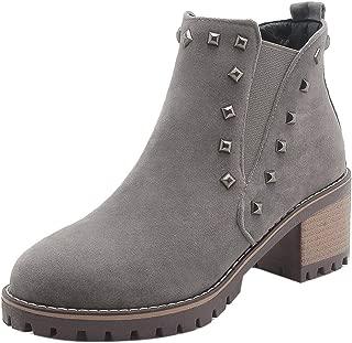 RizaBina Women Block Heels Chelsea Boots