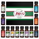 Top 12 Essential Oils Gift Set for Diffuser - Christmas Gifts for Mom, Grandma, Women, Wife, Her for Aromatherapy by Aviano Botanicals