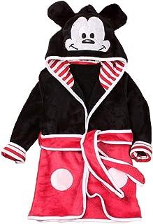 Mickey Mouse - Mouse - Bata - Albornoz - Dormitorio - Noche - Pijama - bebé - Forro Polar Suave - con Capucha - Personajes