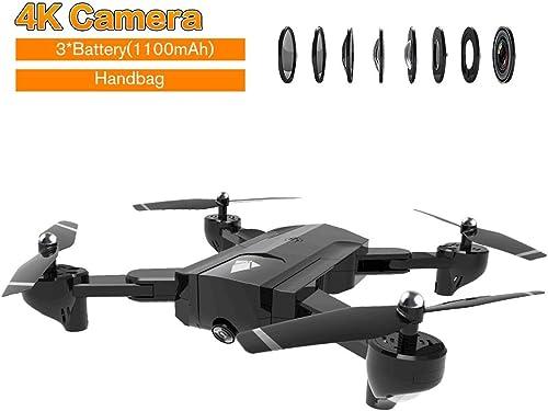 WOSOSYEYO SG900 bourdonneHommest Pliable de RF 2.4GHz WiFi FPV de bourdonneHommest Optique de Drone de RC Drones avec l'appareil-Photo 4K et la Batterie 3  1100mAh
