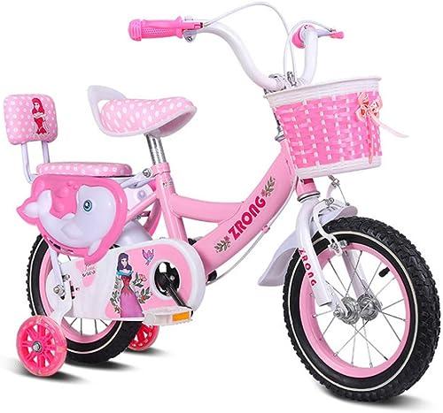 HUXINFEI mädchen Bike Sturdy Wear Resistant Flashing Wheel fürrad 12-14-16-18 Zoll, Kids Bike,16inches