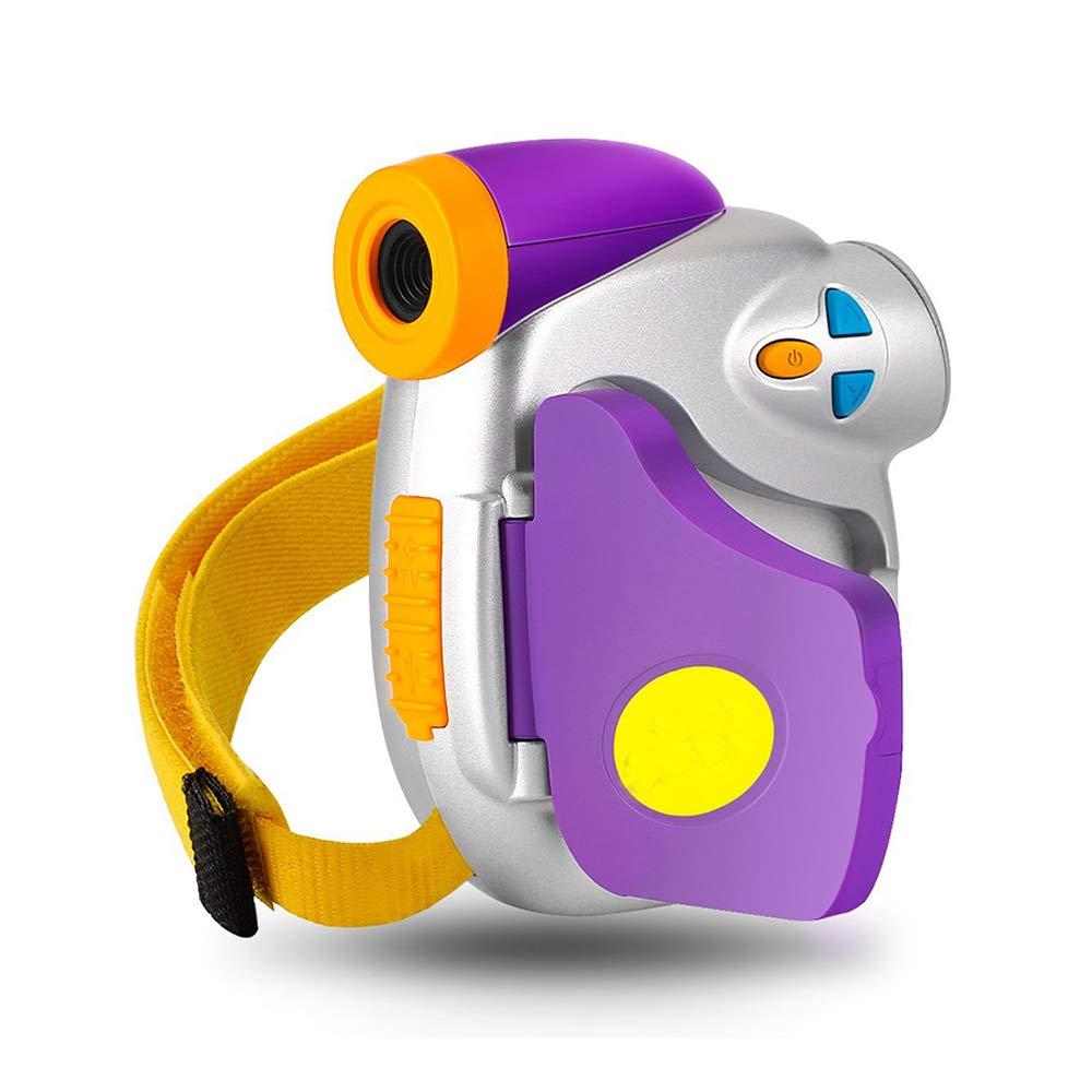 Eoncore子供用カメラ防水デジタルスポーツカメラHDアクションカメラボーイガール水泳乗馬スケート8GBカード。 ..パープル
