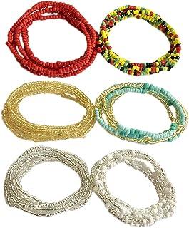 Zoylink Women's Waist Chain Beads Decor Belly Chain Waist Beach Bikini Body Jewelry (Size 1)
