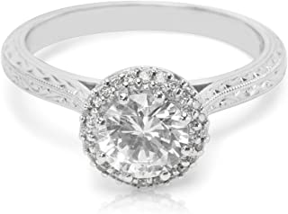 BRAND NEW Tacori Halo Engagement Ring Setting in Platinum 2502 RDE 6 (0.13 CTW)