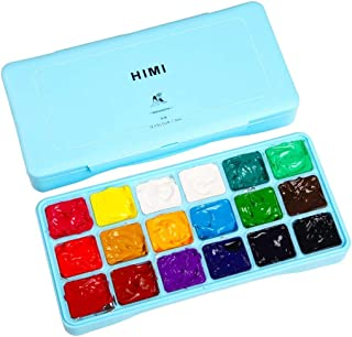 AOOK MIYA HIMI Gouache Paint Set 18 Colors (30ml/Pc) Paint Set Unique Jelly Cup Design Non Toxic Paints for Artist, Hobby ...