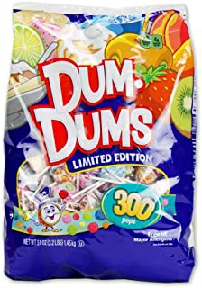 Spangler Dum Dums Lollipops Candy Limited Edition Flavors, 300 Pops (51 Oz) Bag