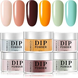 TOMICCA Dipping Powder Summer Candy Color Set of 6 Nail Acrylic Powder 10g 3 in 1 Powder for Dip System